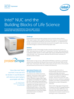 ProteinSimple, Intel® NUC, and the Building Blocks of Life Science
