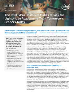 Intel vPro® Platform Helps Lightbridge Academy