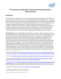The IoT and Automotive and Transportation Policy Principles