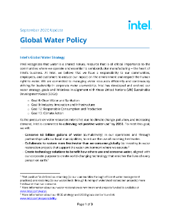 Global Water Policy