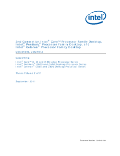 2nd Gen Intel® Core™ Processor Family Desktop Datasheet, Vol. 2