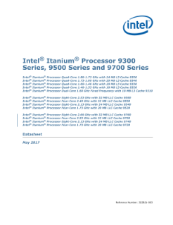 Intel® Itanium® Processor 9300/9500/9700 Series: Datasheet