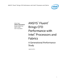 ANSYS Fluent* CFD Software Performance