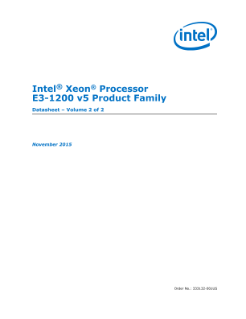 Intel® Xeon® Processor E3-1200 v5 Product Family Datasheet, Vol. 2