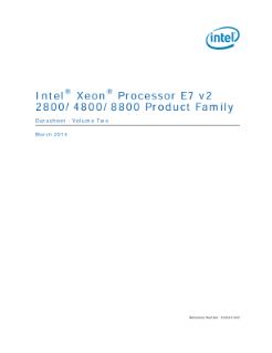 Intel® Xeon® Processor E7 v2 2800/4800/8800 Product Family Datasheet - Volume Two