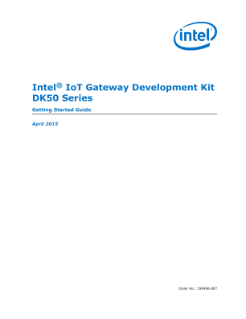 Intel® IoT Gateway Development Kit DK50 Series: Getting Started Guide