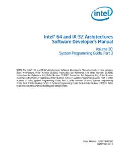 Intel® 64 and IA-32 Architectures Developer's Manual, Vol. 3C