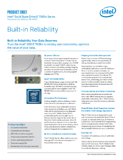 Intel® Solid State Drive E 7000s Series: Product Brief