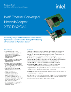 Intel® Ethernet Converged Network Adapters X710 DA-2/DA-4 (Intel® Ethernet CNA X710 DA-2/DA-4)