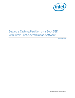 Setting a Caching Partition on a Boot Intel® SSD