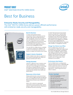 Intel® SSD Pro 5400s Series Product Brief