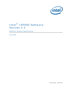 Intel® IXP400 Software, V2.3: Product Specification