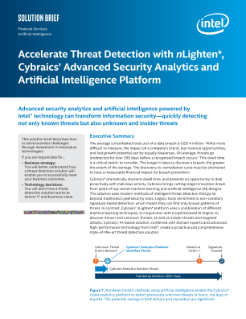 Accelerate Threat Detection with Cybraics' Cyber Analytics Platform Solution Brief