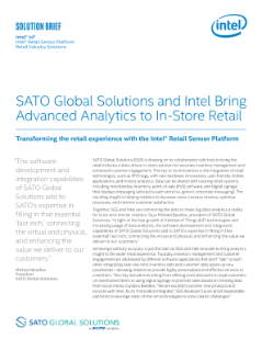 SATO and Intel Bring Advanced Analytics to In-Store Retail