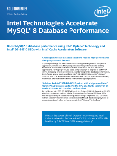 Intel® Technologies Accelerate MySQL* 8 Database Performance