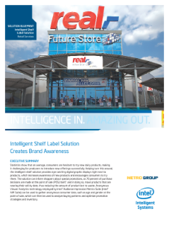 sOlutiOn Blueprint  intelligent shelf  label solution  Retail Services