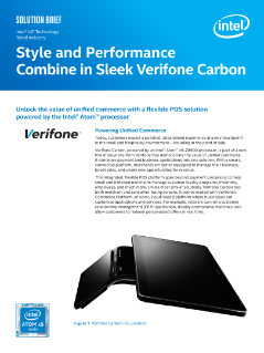 Style and Performance Combine in Sleek Verifone Carbon