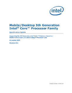 Desktop/Mobile 5th Gen Intel® Core™ Processor Family Spec Update