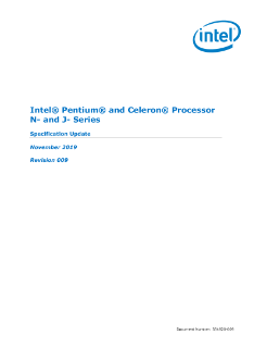 Intel® Pentium® and Celeron® Processor N- and J- Series Spec Update