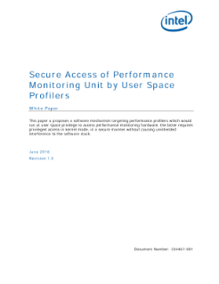 Secure Access of Performance Monitoring Unit by User Space Profilers