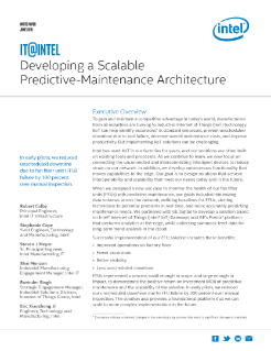 Developing Scalable Predictive Maintenance